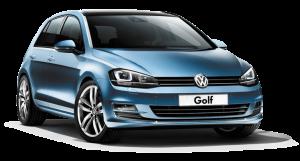 Modrý volkswagen Golf
