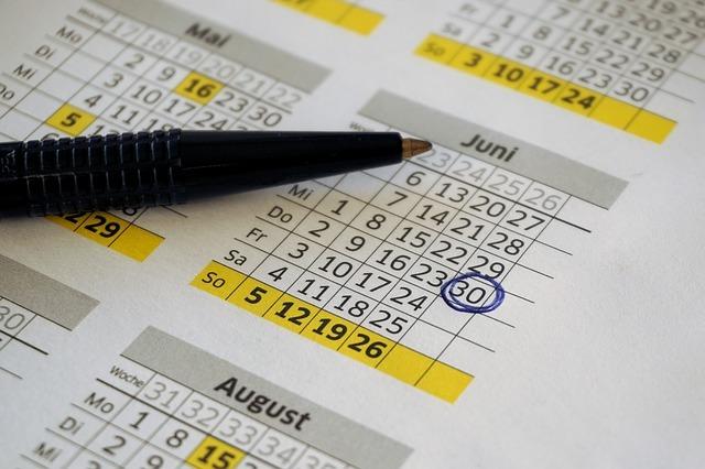 Kalendár so zakrúžkovaným dátumom